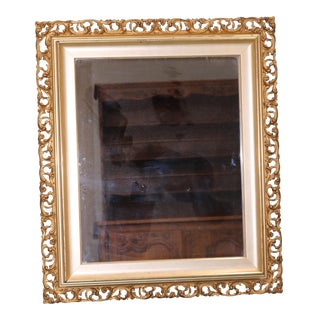 Antique Italian Rococo Style Carved and Florentine Gold Gilt Mirror For Sale