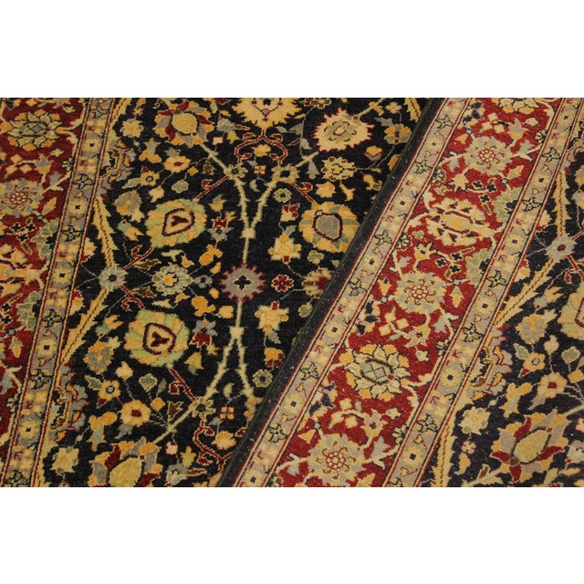 Textile Shabby Chic Istanbul Cristoph Blue/Red Turkish Hand-Knotted Rug -4'1 X 6'1 For Sale - Image 7 of 8