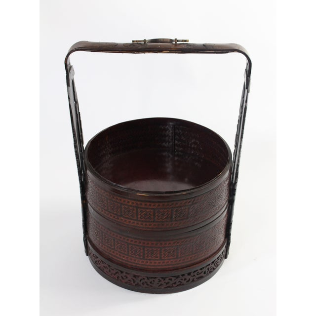 Giant Antique Chinese Wedding Basket For Sale In Los Angeles - Image 6 of 11