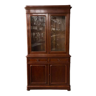 French 19th Century Two-Part Mahogany Bookcase