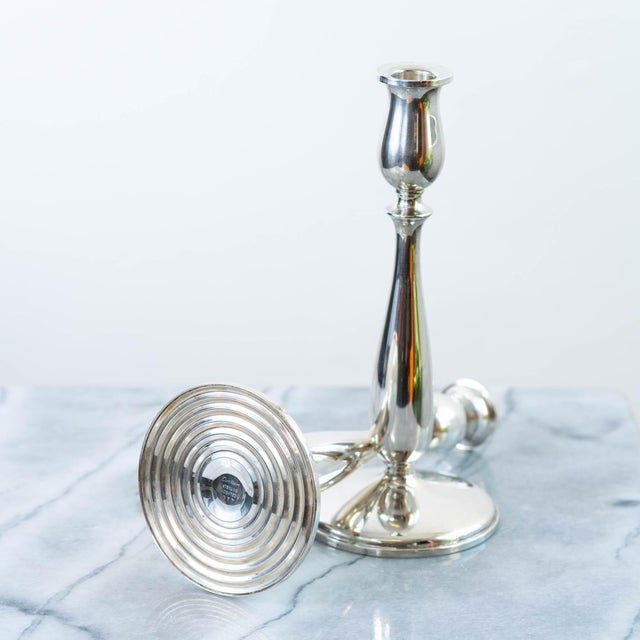 Cartier Vintage Cartier Sterling Silver Candlesticks - a Pair For Sale - Image 4 of 6