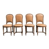 Image of Compact Vintage Dining Chairs- A Pair For Sale