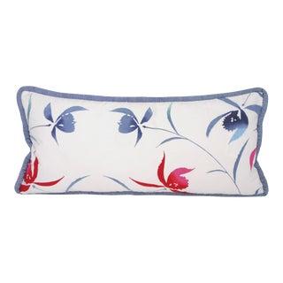 Japanese Botanical Yukata Kimono Pillow For Sale