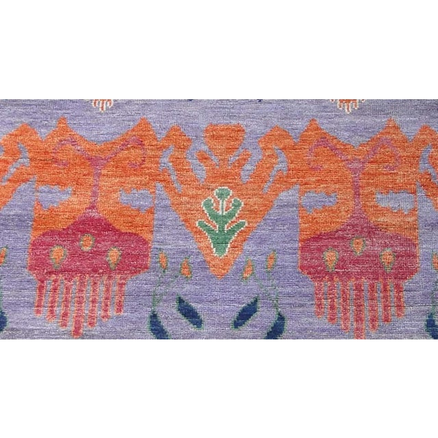 """Hand Knotted Ikat Rug by Aara Rugs Inc. 12'5"""" X 9'5"""" For Sale In Los Angeles - Image 6 of 7"""