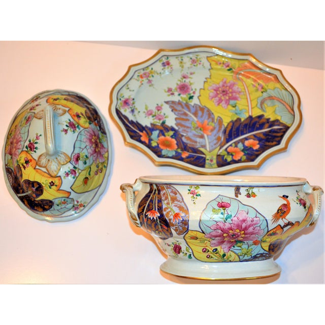 Mid-Century Mottahedeh Tobacco Leaf Tureen For Sale - Image 10 of 13