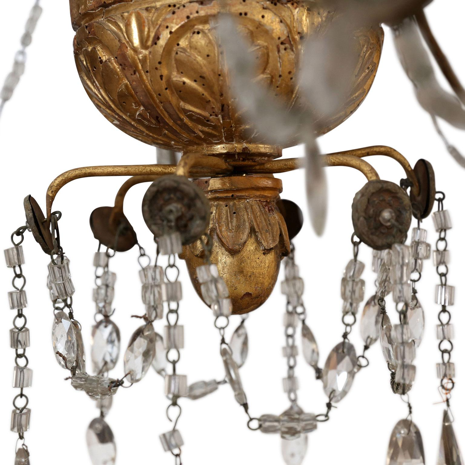 Superior Pair Of 18th Century Chandeliers From Genoa Decaso