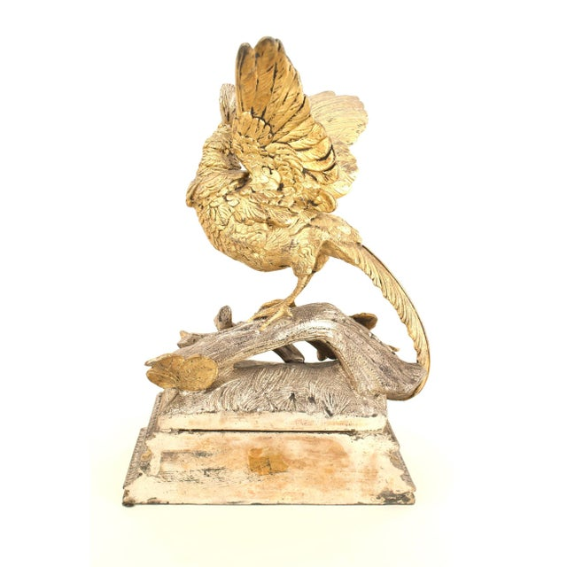 Gold Pair of French Victorian Silver and Gilt Bookends For Sale - Image 8 of 12