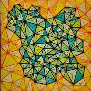 Geometric Abstract Original Painting For Sale