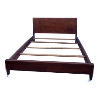 Mid Century Modern Full Size Mahogany Bed Frame For Sale