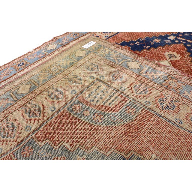 20th Century British Colonial Persian Hamadan Rug For Sale - Image 4 of 6