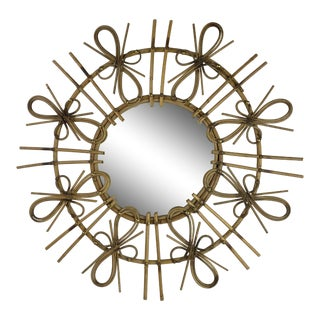 French Mid-Century Starburst Mirror For Sale