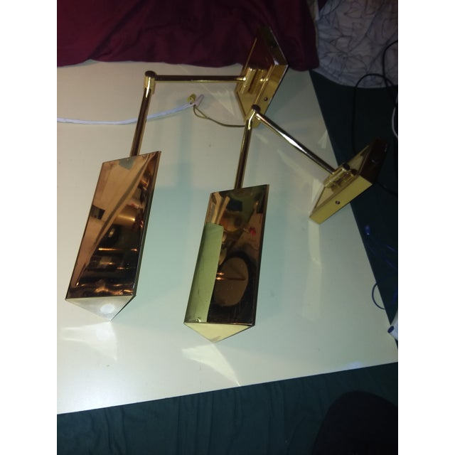 1970s 1970s Koch & Lowy Brass Swing Arm Sconces - a Pair For Sale - Image 5 of 12