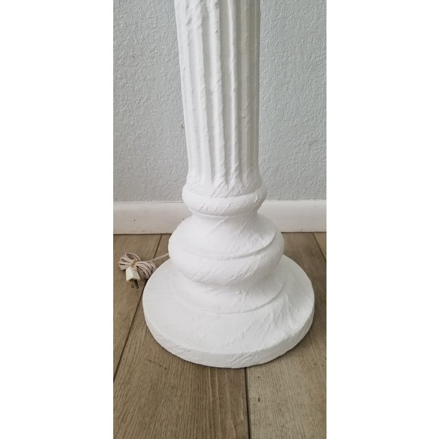 Hollywood Regency Column Plaster Floor Lamp . For Sale - Image 4 of 10