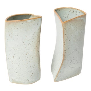 Folded Ceramic Curves - A Pair