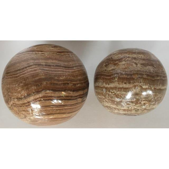 Mid-Century Modern Decorative Marble Eggs - A Pair For Sale - Image 3 of 5