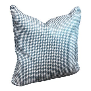 Fenton Blue Houndstooth Pillow For Sale