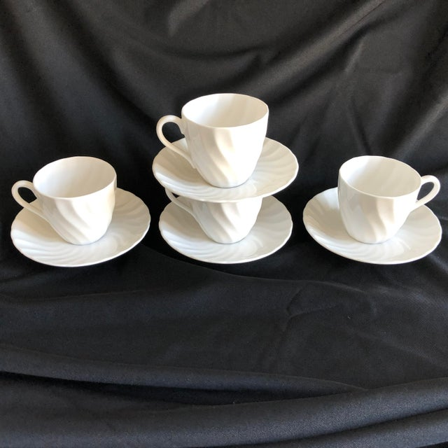 Wedgwood Vintage Royal Tuscan by Wedgwood Cocoa /Teacups & Saucers S/4 For Sale - Image 4 of 7