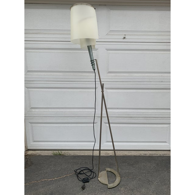 1980s Memphis Spiral Torch Lamp For Sale - Image 5 of 11