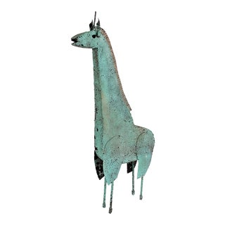Vintage Manuel Felguerez Brutalist Welded Metal Giraffe Sculpture For Sale