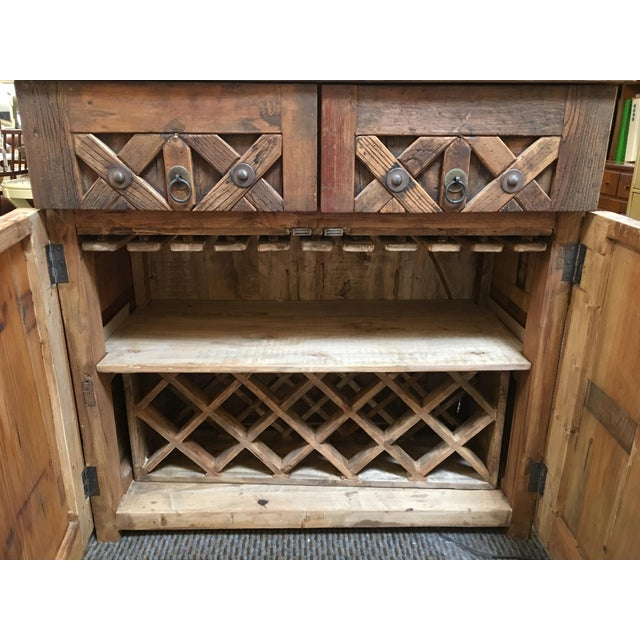 Vintage Saxon Wine Wood Cabinet - Image 3 of 11