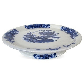 Antique Flow Blue Cheese / Cake Stand Preview