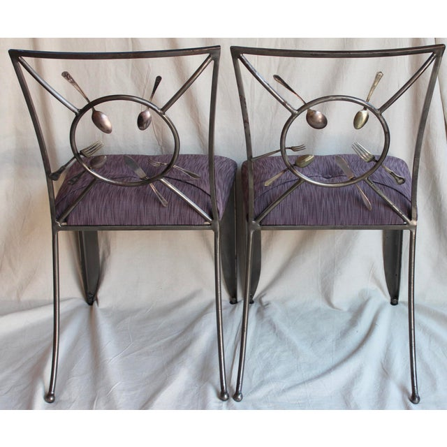 "Randall Kramer ""Silverware"" Chairs - A Pair - Image 4 of 8"