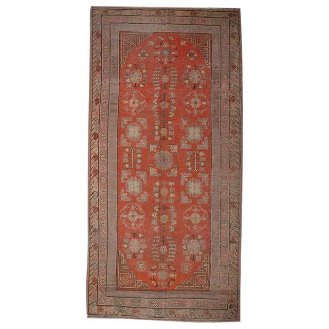 "Late 19th Century Khotan Rug - 76"" x 156"" For Sale"