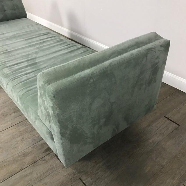 Room & Board Suede Studio Sofa - Image 8 of 9
