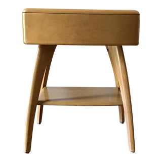 1980s Mid Century Modern Haywood Wakefield Lamp Table For Sale