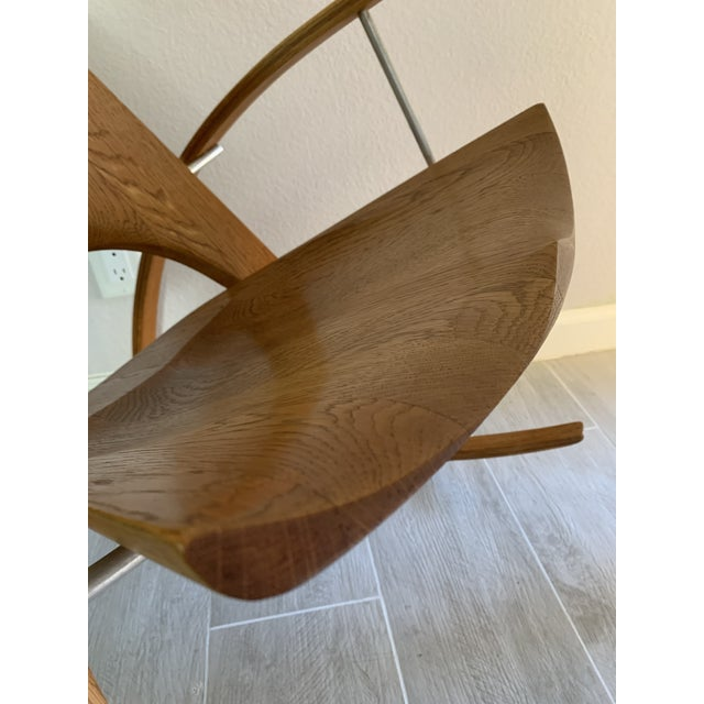 Mid Century Modern Leon Meyer Sculptural Rocking Chair For Sale - Image 12 of 13