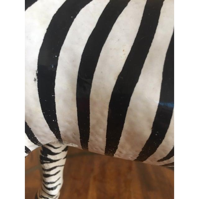 Italian Terra Cotta Zebra For Sale - Image 4 of 9