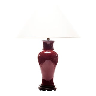 Lawrence & Scott Baluster Pinot Red Table Lamp For Sale
