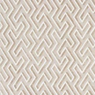 Scalamandre Maze Velvet Fabric in Latte For Sale