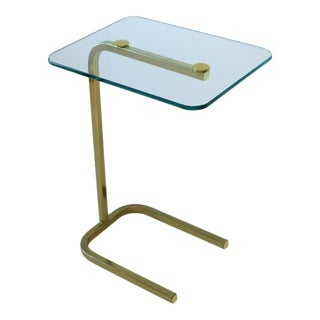 20th Century Modern Pace Collection Brass and Glass Side Table For Sale