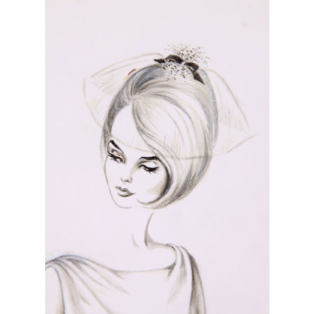 Vintage Fashion Sketch by Charlotte Cooper - Image 2 of 3