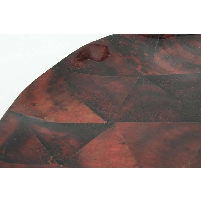 1970s Boho Chic Maitland Smith Tesselated Coconut Shell Tray For Sale In Miami - Image 6 of 11