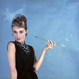 """Image of Audrey Hepburn as Holly Golightly in """"Breakfast at Tiffany's"""" 1961 12x12 Canvas For Sale"""