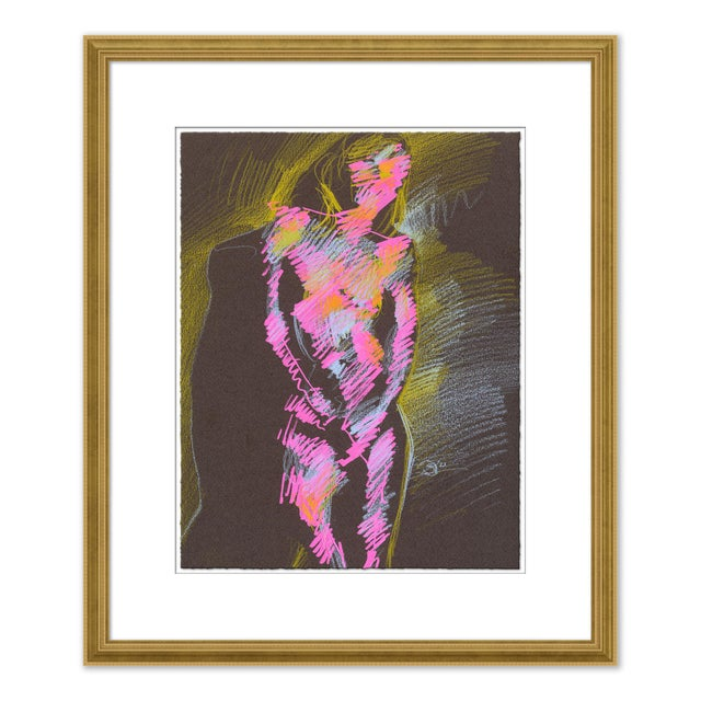 Not Yet Made - Made To Order Figures, Set of 4 by David Orrin Smith in Gold Frame, XS Art Print For Sale - Image 5 of 11