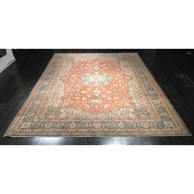 "Vintage Turkish Oushak Rug - 8'9"" x 11'10"" - Image 2 of 8"
