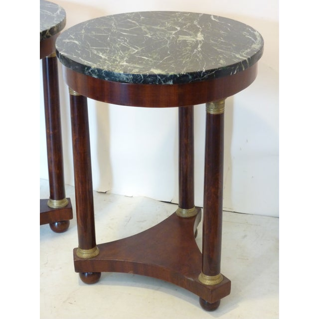 French Empire-Style Side Tables - A Pair - Image 6 of 7