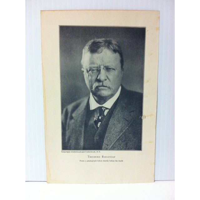 """This is an Antique Print on Paper showing an Event from the Life of Theodore Roosevelt that is titled """"Theodore..."""