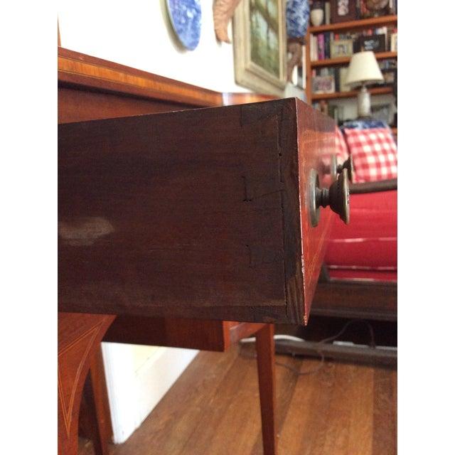Hepplewhite Mahogany Inlay Desk For Sale - Image 10 of 13