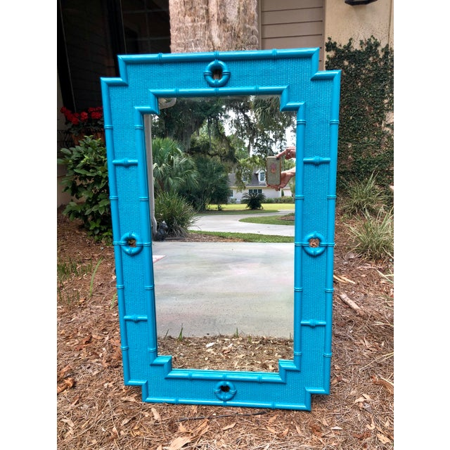 Vintage Faux Bamboo Mirror For Sale - Image 11 of 11