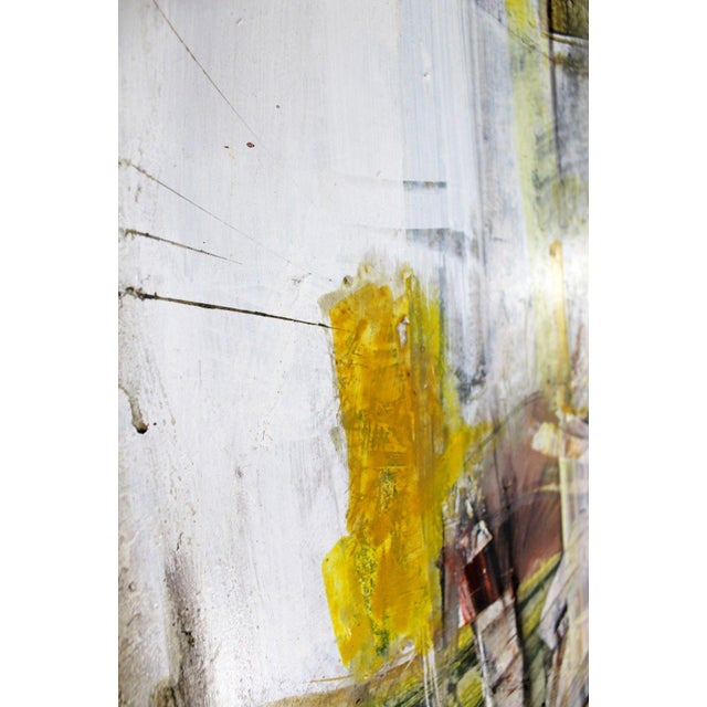 Mid Century Modern Framed Mixed Media Acrylic Abstract Painting by Ljubo Biro For Sale In Detroit - Image 6 of 11
