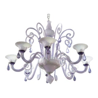 Murano Glass Eight Light Chandelier