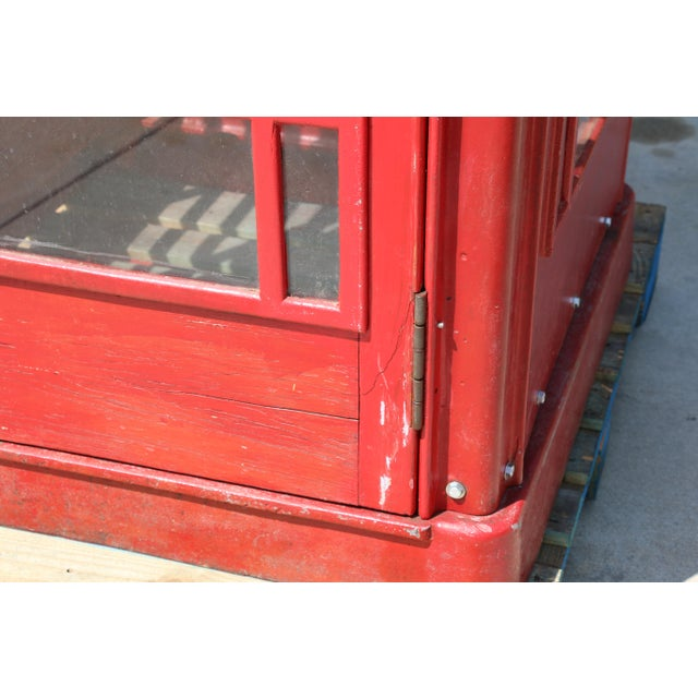 Metal Vintage London Lifesize Telephone Booth For Sale - Image 11 of 13