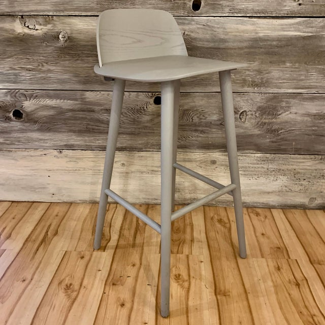 Modern David Geckeler Muuto Nerd Molded Plywood Barstool For Sale - Image 13 of 13