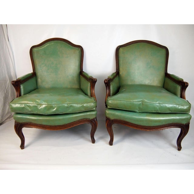 Louis XV Style Bergères - A Pair - Image 2 of 6