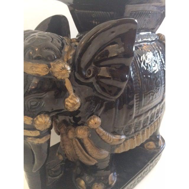 Vintage Black Ceramic Garden Stool For Sale - Image 5 of 8