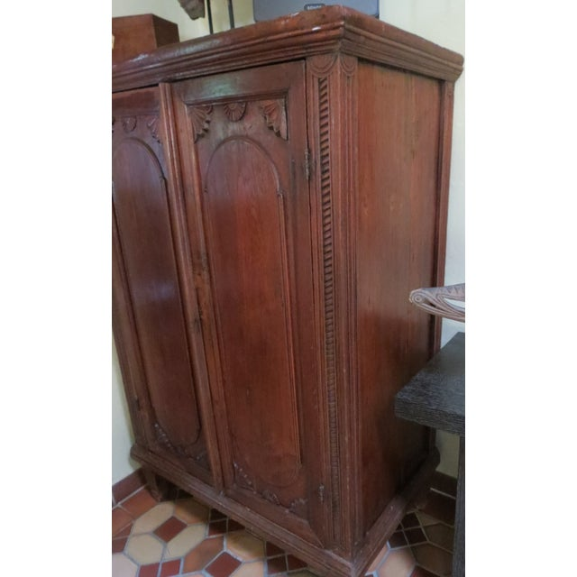 Mid-Century Modern Dutch Colonial Style Armoire For Sale - Image 3 of 7